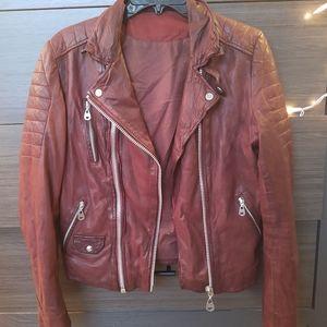 DOMA Oxblood Leather Jacket Size Medium/Large